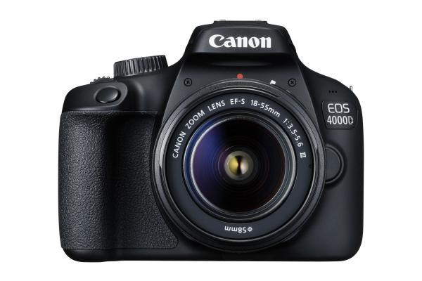 Фотоапарат Canon EOS 4000D тяло + Обектив Canon EF-s 18-55mm f/3.5-5.6 III + Обектив Canon EF-S 10-18mm f/4.5-5.6 IS STM