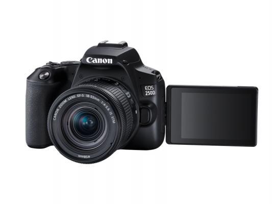 Фотоапарат Canon EOS 250D Black тяло + Обектив Canon EF-S 18-55mm f4-5.6 IS STM