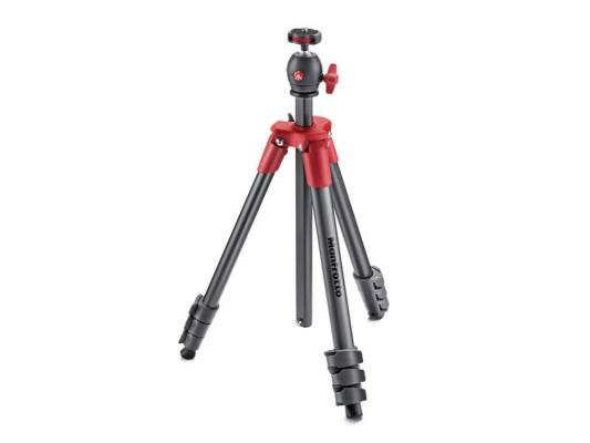Статив с ябълковидна глава Manfrotto Compact Light (Red)