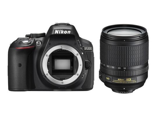 Фотоапарат Nikon D5300 Black тяло + Обектив Nikon AF-S DX Nikkor 18-105mm f/3.5-5.6G ED VR