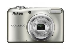 Фотоапарат Nikon Coolpix A10 Silver + 4GB SD карта + Зарядно усторйство GP + 2 бр. AA x 2000mAh батерии