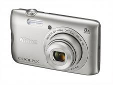 Фотоапарат Nikon Coolpix A300 Silver + 8GB SD карта + Калъф Case Logic PSL-16