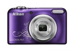Фотоапарат Nikon Coolpix A10 Purple Lineart + 4GB SD карта + Зарядно усторйство GP + 2 бр. AA x 2000mAh батерии