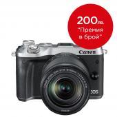 Фотоапарат Canon EOS M6 тяло Silver + Обектив Canon EF-M 18-150mm f/3.5-6.3 IS STM + Батерия Li-Ion Canon LP-E17