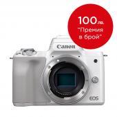 Фотоапарат Canon EOS M50 White Тяло + Батерия Li-Ion Canon LP-E12