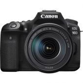 Фотоапарат Canon EOS 90D тяло + Обектив Canon EF-S 18-135mm f/3.5-5.6 IS USM + Батерия Hahnel Li-Ion HL-E6 заместител на Canon LP-E6 + Памет SDXC SanDisk Extreme 64GB UHS-I V30 U3 150MB