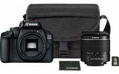 Фотоапарат Canon EOS 4000D тяло + Обектив Canon EF-s 18-55mm f/3.5-5.6 III Travel kit