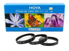 Комплект макро лещи Hoya HMC +1, +2, +4D 67mm