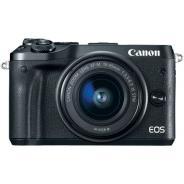 Фотоапарат Canon EOS M6 тяло Black + Обектив Canon EF-M 15-45mm f/3.5-6.3 IS STM
